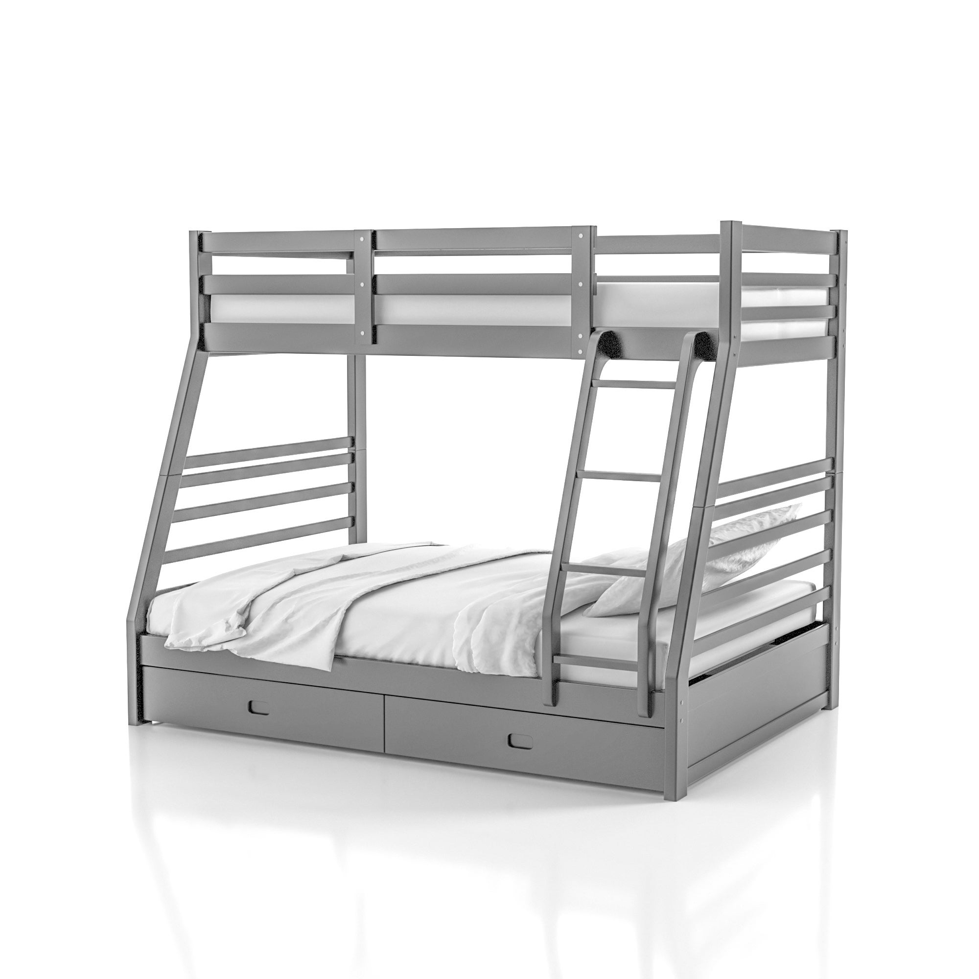Furniture Of America Cude Modern Twin Full Solid Wood Bunk Bed Set On Sale Overstock 6825179