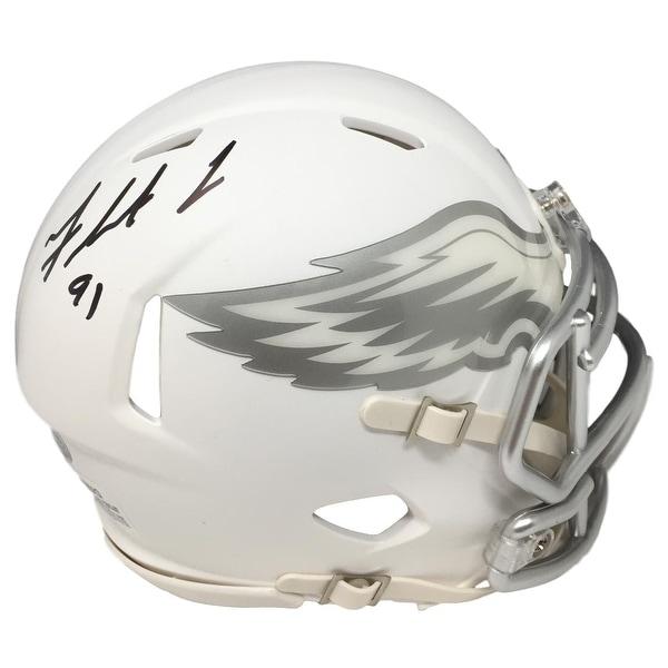 detailing 34961 42189 Shop Fletcher Cox Signed Philadelphia Eagles ICE Speed Mini ...