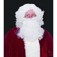 2-Piece Christmas Santa Claus Wig & Beard Set - One Size - WHITE