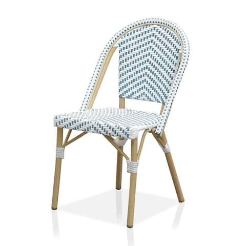 Furniture of America Ariel Natural Tone Patio Bistro Chairs (Set of 2)