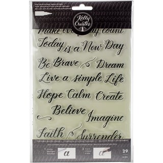 Kelly Creates Acrylic Traceable Stamps-Quotes 3