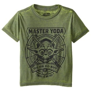Star Wars Little Boys' Burnout Master Yoda Do Or Do Not T-Shirt