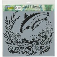 "Crafter's Workshop Template 12""X12""-Dolphins"
