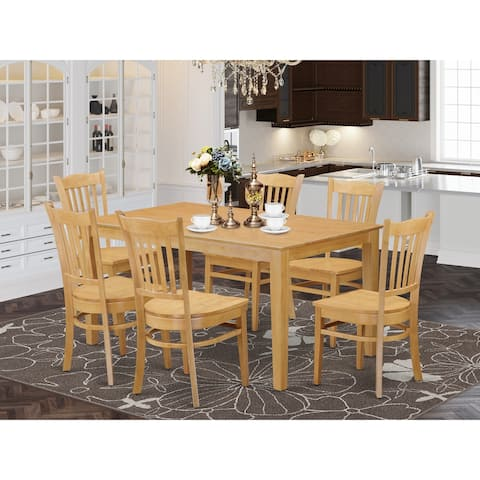 7 Pc Dining Room Set Included 1 Dinette Table and 6 Kitchen Chairs