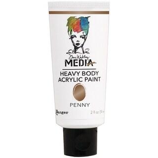 Dina Wakley Media Heavy Body Metallic Acrylic Paint 2oz-Penny