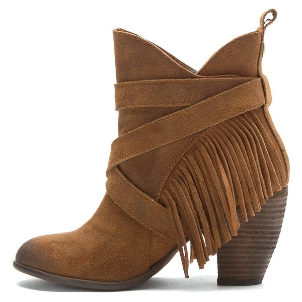 Naughty Monkey Womens Wild Wink Leather Almond Toe Ankle Fashion Boots