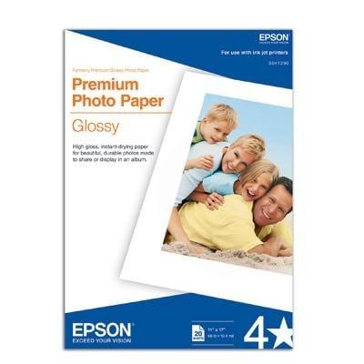 Epson America - S041290 - Glossy Photo Paper B Size 20Pk