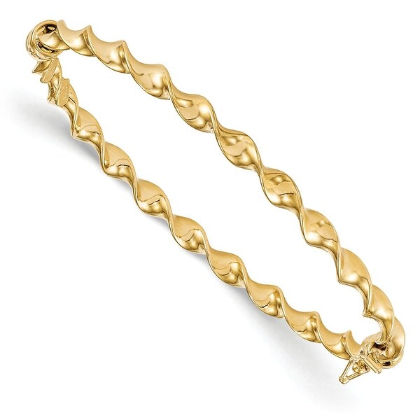 Italian 14k Gold Twisted Bangle