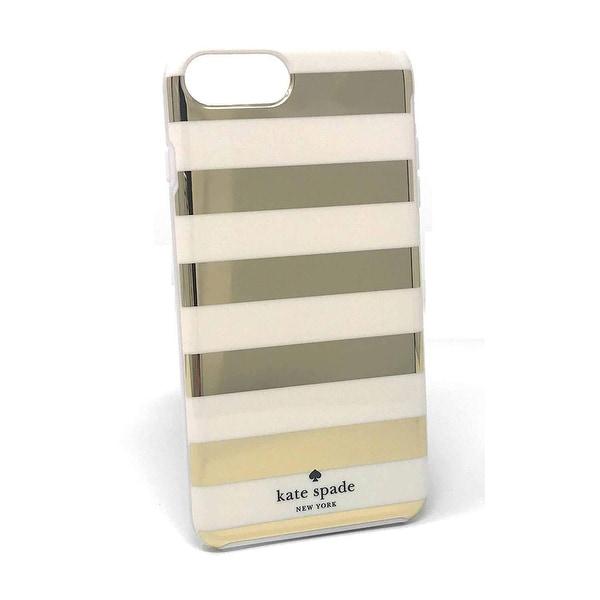 super popular f3b6d 1eba7 Shop Kate Spade New York Candy Stripe Gold Cream Flexible Hardshell ...