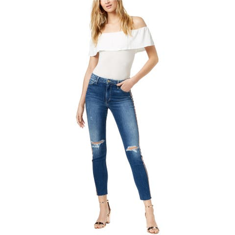 Joe's Womens The Charlie Ripped Skinny Fit Jeans, Blue, 25