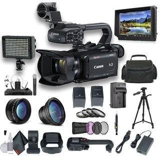 Canon XA15 Compact Full HD Camcorder with SDI, HDMI, and Composite Output Professional Bundle
