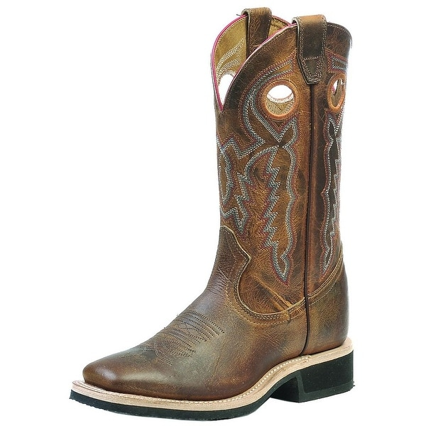 Boulet Western Boot Womens Cowboy Leather Laid Back Tan Spice 0