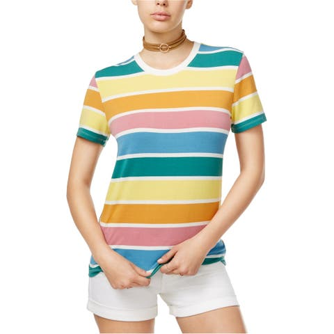 Carbon Copy Womens Striped Basic T-Shirt, multicoloured, Small