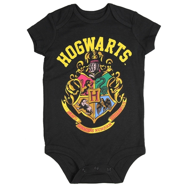 Harry Potter Hogwarts School Crest Unisex Baby One Piece Snapsuit