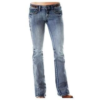 Cowgirl Tuff Western Denim Jeans Womens Vintage Studs Med