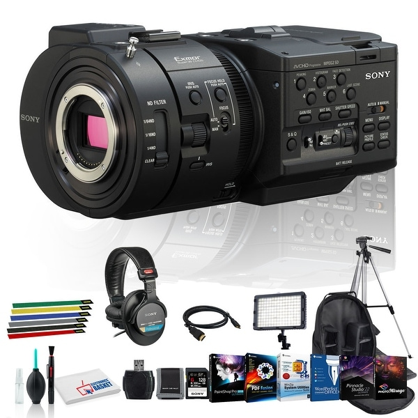 Sony NEX-FS700R Camcorder with Lens Cleaning Kit, 128GB Memory Kit,. Opens flyout.