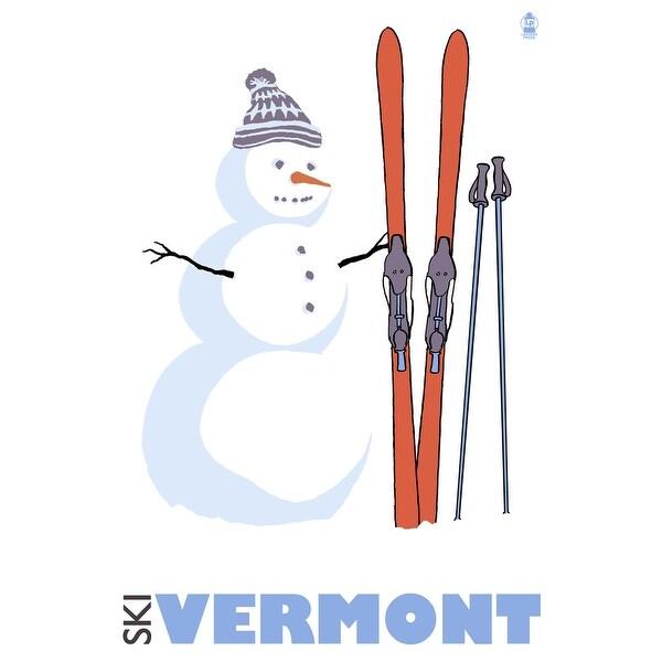 VT - Snowman with Skis - LP Artwork (100% Cotton Towel Absorbent)