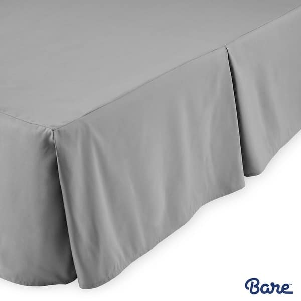 Bare Home 15 Inch Drop Brushed Microfiber Bed Skirt Pleated Dust Ruffle Overstock 20010196