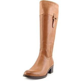 Franco Sarto Lizbeth Round Toe Leather Knee High Boot