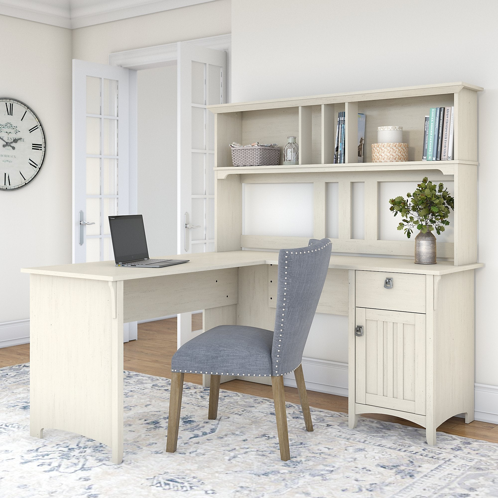 The Gray Barn Ermine 60 Inch L Shaped Desk With Hutch Overstock 26263304