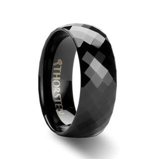 Thorsten 288 Diamond Faceted Black Tungsten Carbide Band - 8mm AEON