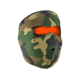 ZANheadgear Reversible Full Mask Camo to High-Vis Orange - WNFM118HV