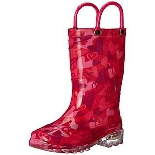 Western Chief Girls Lovely Camo Rain Boots Printed Light Up