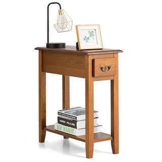 Link to Sofa Side End Table 2 Tier Narrow Nightstand with Drawer Similar Items in Living Room Furniture