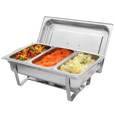 Three Sets of Dishes 3*1/3 Stainless Steel Rectangular Buffet Stove