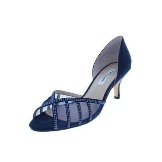 Nina Womens Corita Peep-Toe Heels Satin Embellished