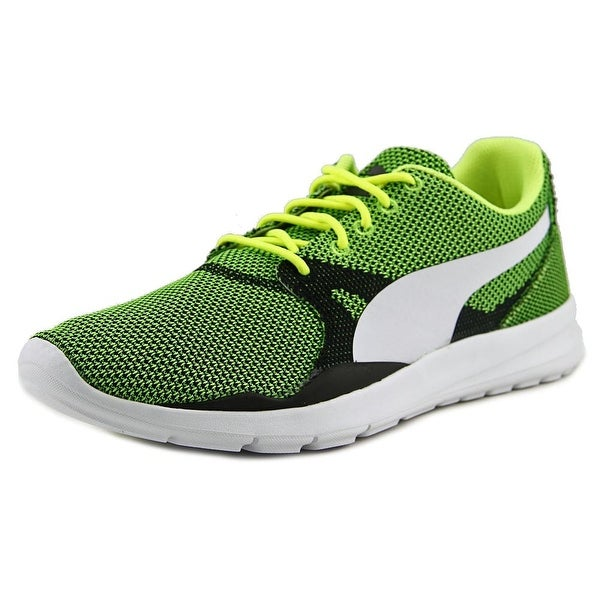 Puma Duplex Evo Knit Men Round Toe Synthetic Yellow Running Shoe