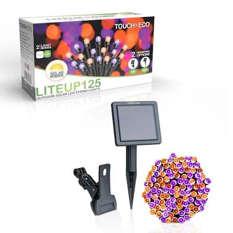 Solar-powered 125 Purple and Orange LED String Light