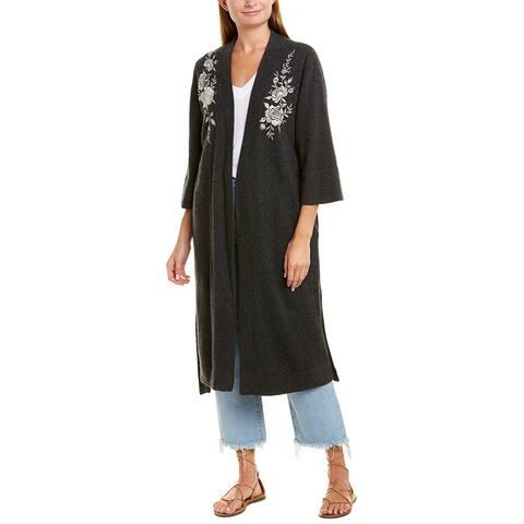 Johnny Was Cashmere Kimono - CGR-CHARCOAL GREY
