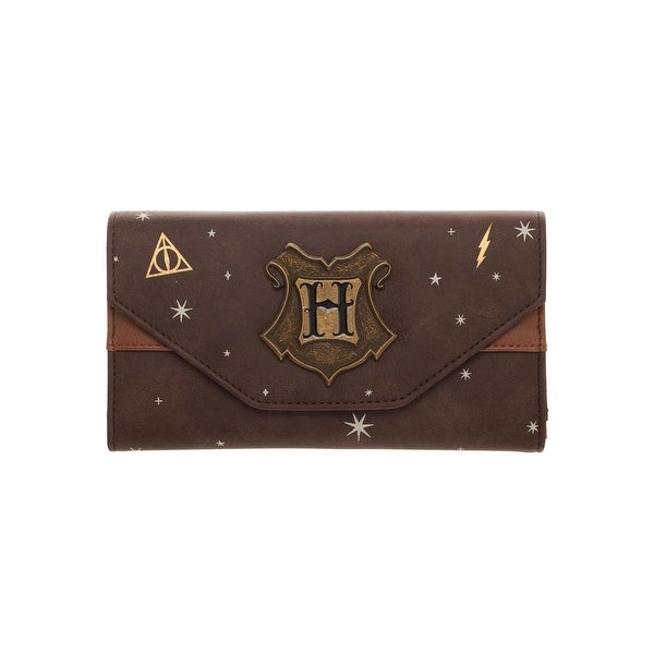 Harry Potter Hogwarts Crest Faux Leather Tri-Fold Wallet