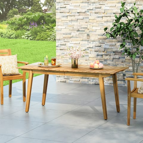 """Mariposo Outdoor Rustic Acacia Wood Dining Table by Christopher Knight Home - 68.50"""" W x 31.50"""" D x 30.00"""" H"""