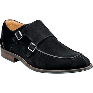 Shop Stacy Adams Men 39 S Balen Moc Toe Double Monk Strap Black Suede On Sale Free Shipping