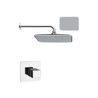 Nameeks SS1161  Remer 2.8 GPM Single Function Rain Shower Head with Valve Trim Rough In Included - Chrome