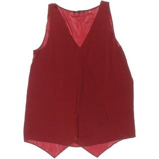 Kobi Halperin Womens Silk V-Neck Blouse