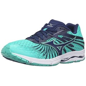 Mizuno Womens Wave Sayonara 4-W Running Shoe, Blue Depths- Green, 10.5 B US
