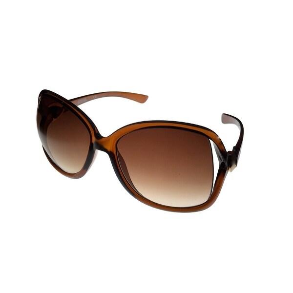 Kenneth Cole Reaction Womens  Plastic Sunglass Brown / Gradient Lens KC1220 50F - Medium