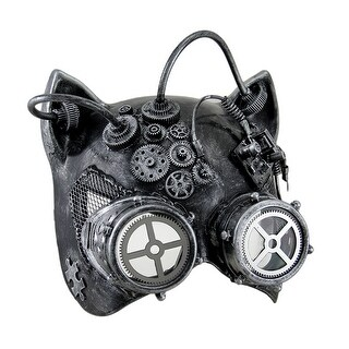 Steamkitty Metallic Finish Steampunk Cat Woman with Goggles Mask