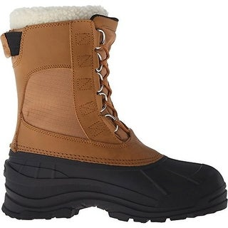 DC Mens Rodel Leather Faux Fur Winter Boots