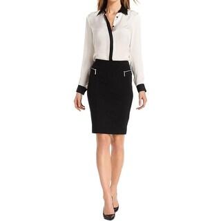 MICHAEL Michael Kors Womens Pencil Skirt Ponte Knee Length