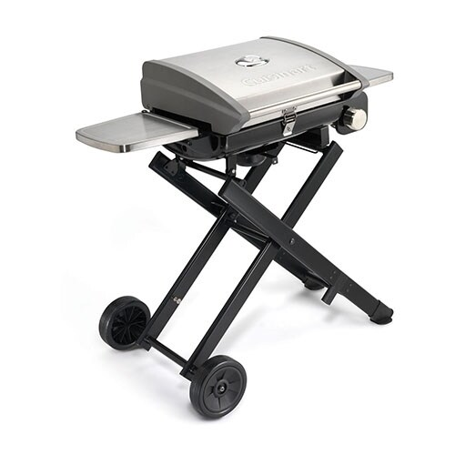 Cuisinart Portable Outdoor LP Gas Grill All Foods Roll-Away Portable Outdoor LP Gas Grill