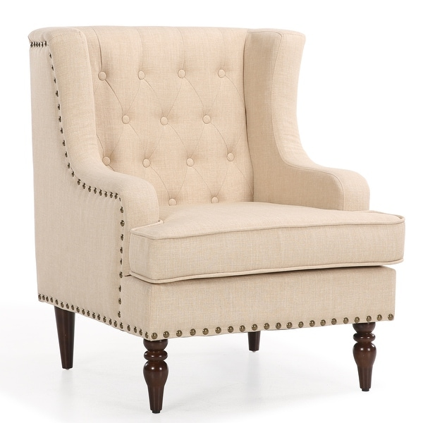 Shop Belleze High Back Club Accent Chair With Fabric