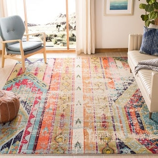Link to Safavieh Monaco Lumturije Distressed Boho Rug Similar Items in As Is