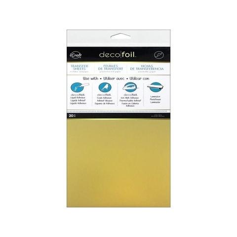 iCraft Deco Foil Transfer 6x12 Pkg Gold 20pc
