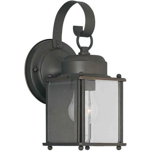 Forte Lighting 1047-01 Outdoor Wall Sconce from the Exterior Lighting Collection - Gold