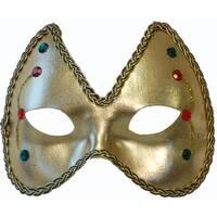 Mardi Gras Eye Costume Mask: Gold