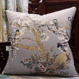 "Luxury Purple Bird Printing Pillow 20""X20"""